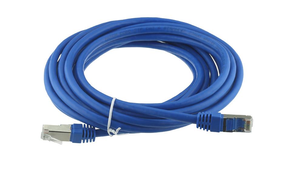 Cavo Ethernet Rete STP CAT6 SCHERMATO 5 metri 5mt LAN RJ45 PROLUNGA LAN ROUTER
