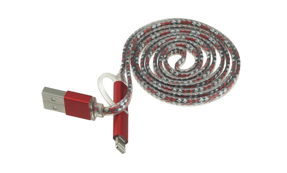 Cavo 2 in 1: Lightning + Micro USB > USB A Maschio, New Design, 1 metro, rosso
