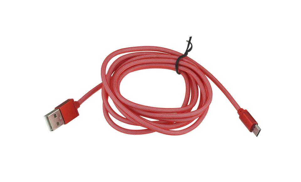 Cavo USB Design Rete [ Micro USB B maschio > USB A maschio ] 2 metri, ROSSO