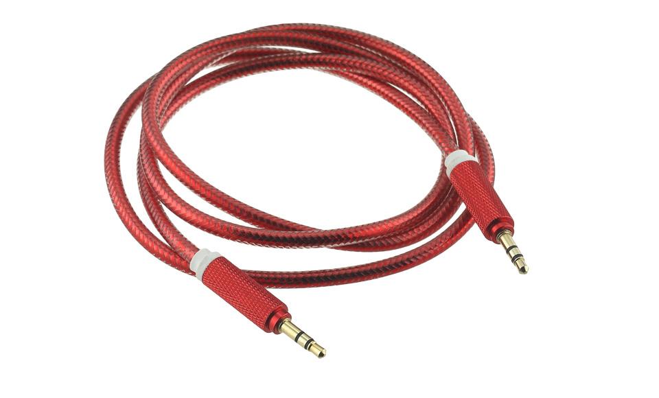 Cavo Audio Aux Jack 3.5mm (maschio-maschio) TRS 1 metro, rosso MP3 Cuffie Radio
