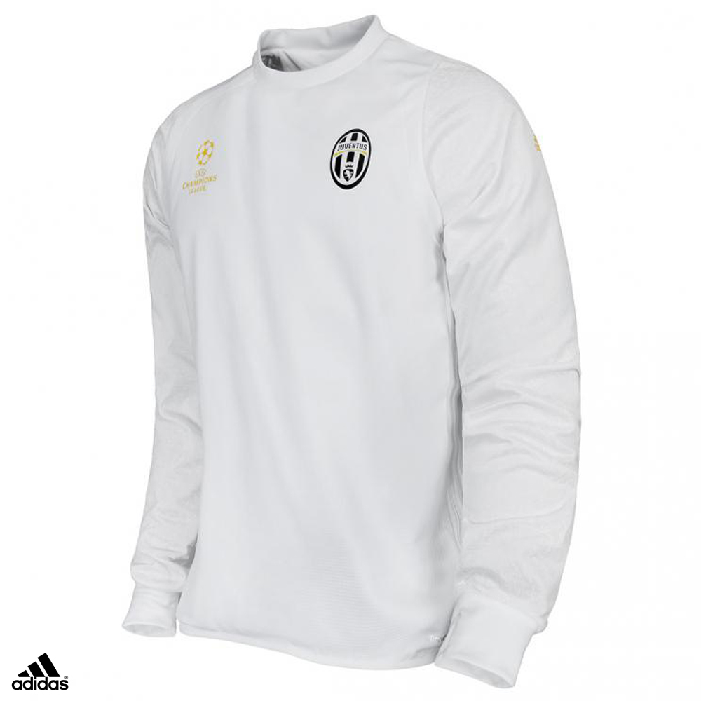Dettagli su Juventus Felpa Allenamento Champions League Bianca 2016-2017 Uomo
