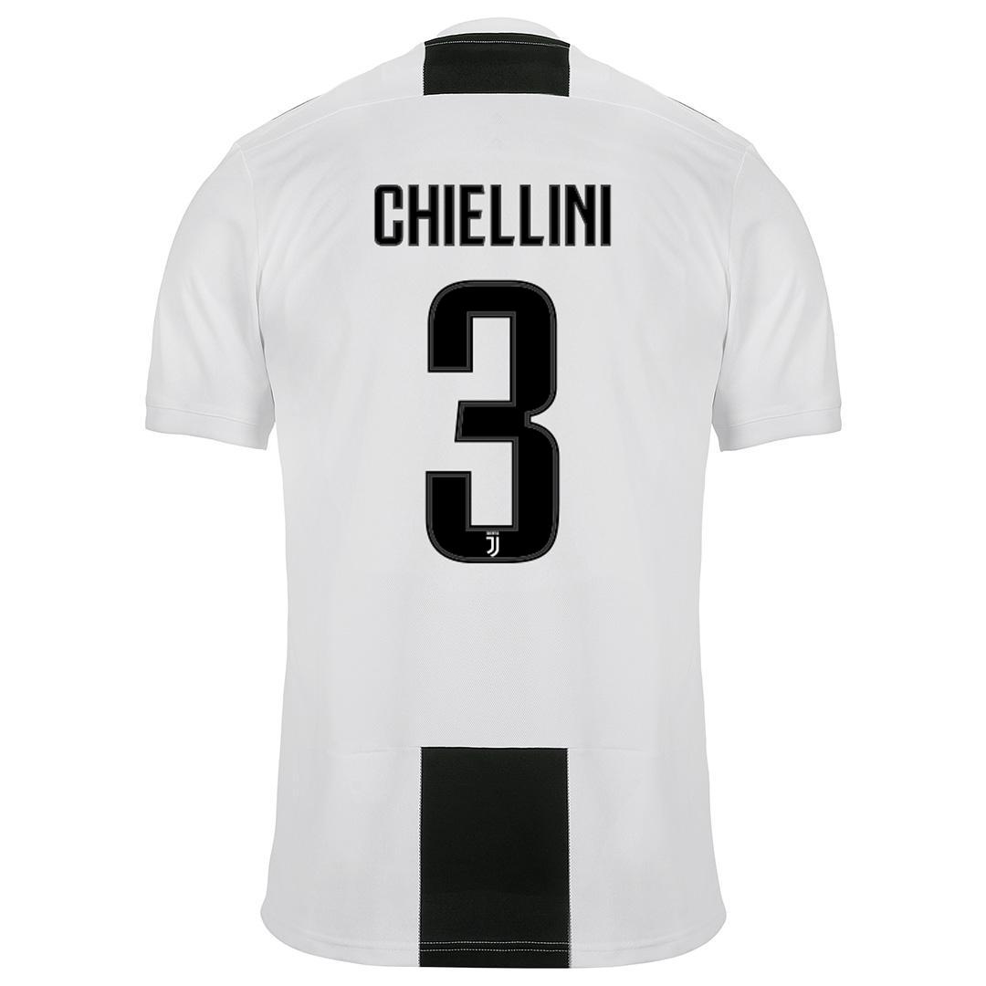 Juventus Maglia CHIELLINI Gara Home 2018/19 Patch Scudetto Coppa ...