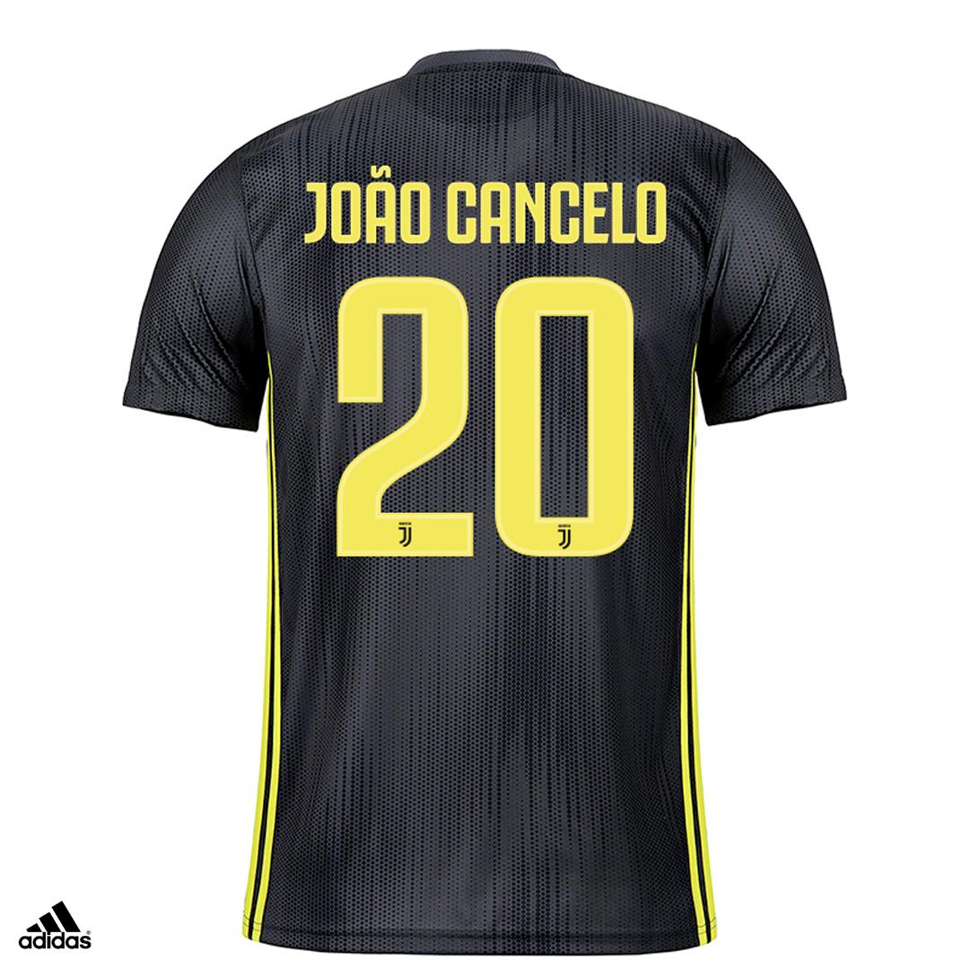 Dettagli su Juventus Maglia Cancelo Gara THIRD 2018/19 Patch Scudetto Coppa Italia Uomo
