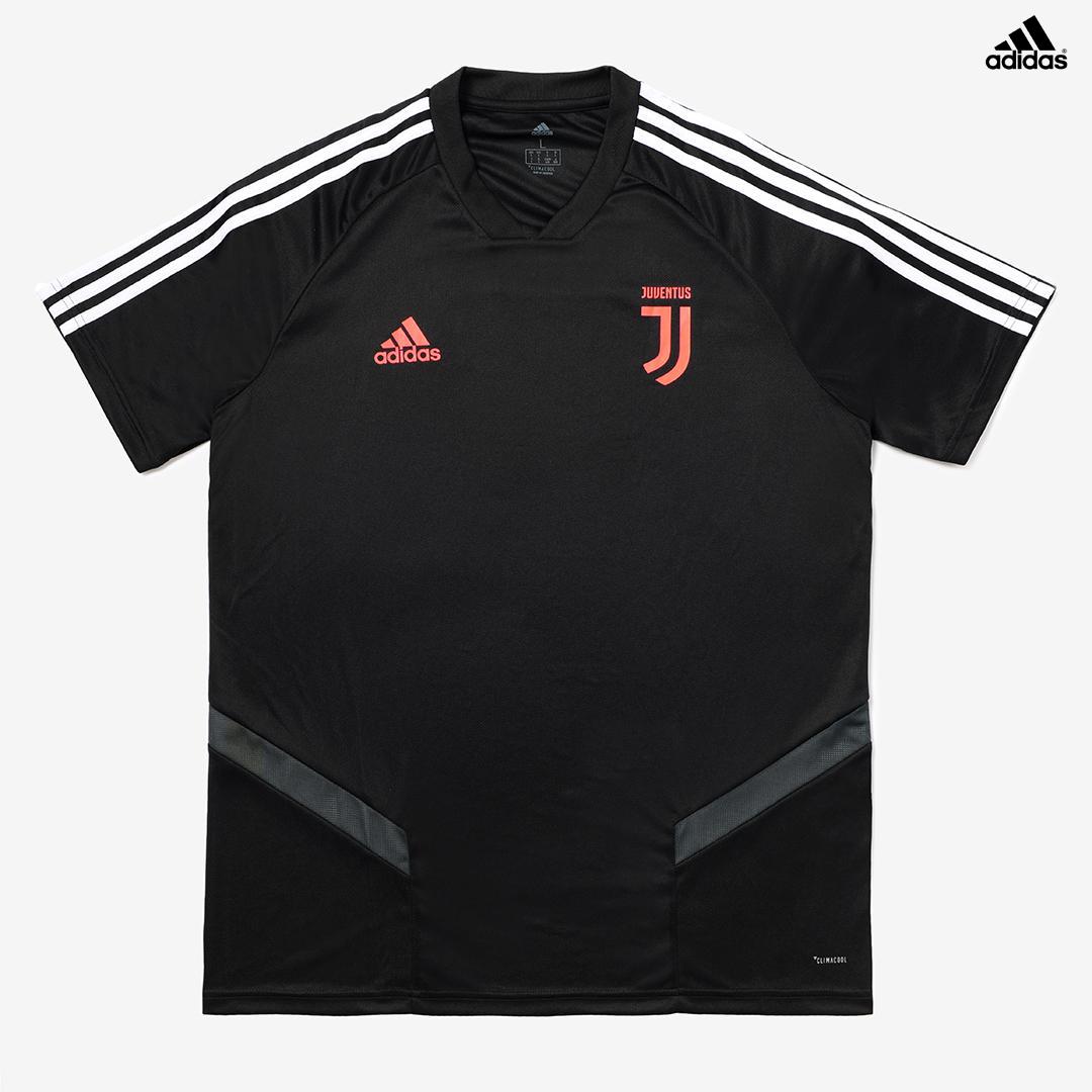 Dettagli su Juventus Maglia Allenamento Nera Campionato 201920 adidas Climacool Uomo