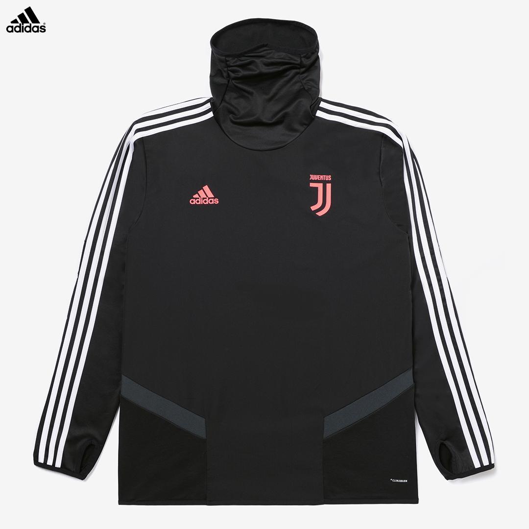 Dettagli su Juventus Felpa Allenamento Pile Nera Campionato 201920 Uomo